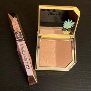 Too Face Mascara and Bronze/Highlight Duo